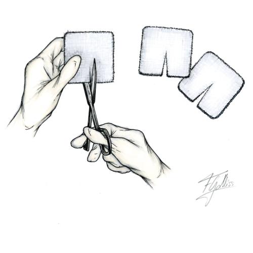 Cuidados de los tornillos óseos: reemplazo de gasas